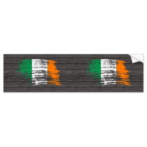 Graffiti Flag of Ireland Bumper Sticker