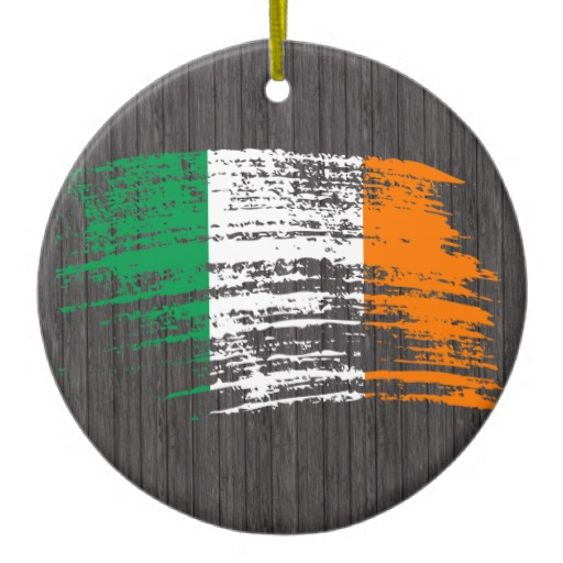Graffiti Flag of Ireland Circle Ornament