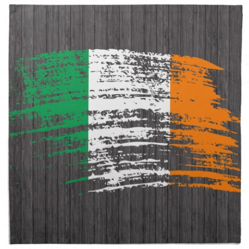 "Graffiti Flag of Ireland Cloth Napkins (set of 4) dinner 20"" x 20"""