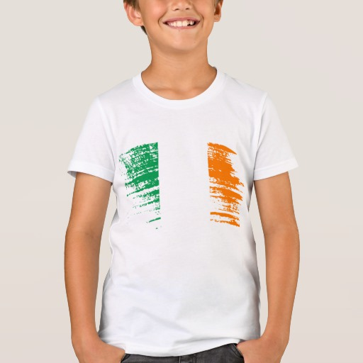 Graffiti Flag of Ireland Kids' Bella+Canvas Crew T-Shirt