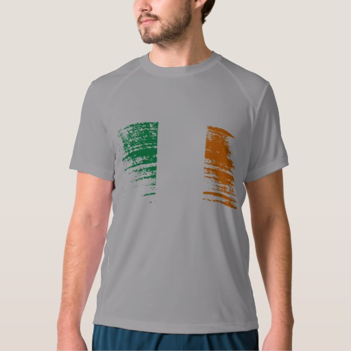 Graffiti Flag of Ireland Men's New Balance T-Shirt