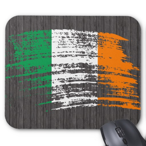 Graffiti Flag of Ireland Mousepad