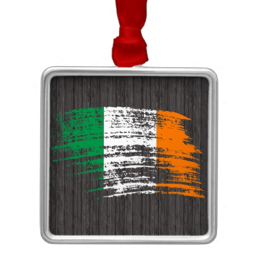 Graffiti Flag of Ireland Premium Square Ornament