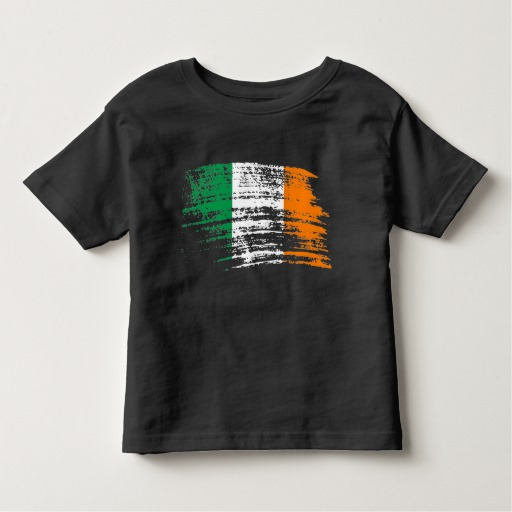 Graffiti Flag of Ireland Toddler Fine Jersey T-Shirt
