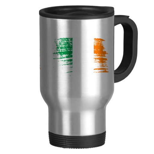 Graffiti Flag of Ireland Travel/Commuter Mug