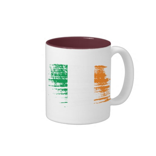 Graffiti Flag of Ireland Two-Tone Mug