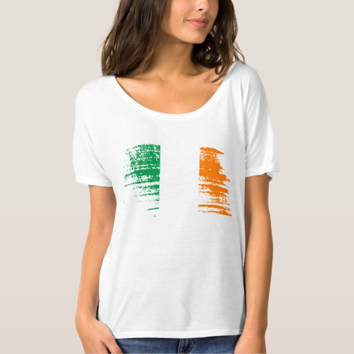Graffiti Flag of Ireland Women's Bella+Canvas Slouchy Boyfriend T-Shirt