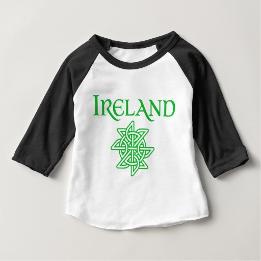 Ireland Celtic Knot Baby American Apparel 3/4 Sleeve Raglan T-Shirt