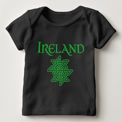Ireland Celtic Knot Baby American Apparel Lap T-Shirt