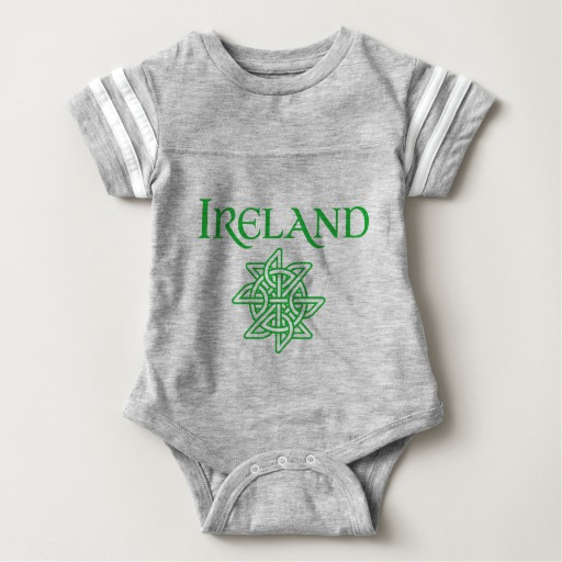 Ireland Celtic Knot Baby Football Bodysuit