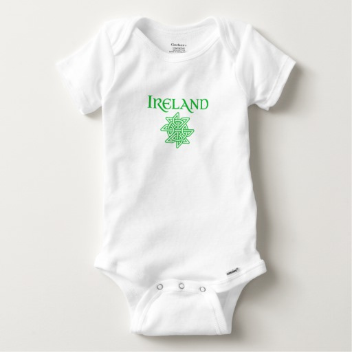 Ireland Celtic Knot Baby Gerber Cotton Onesie