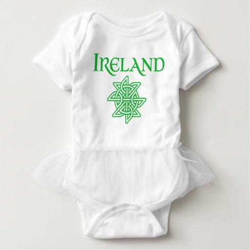 Ireland Celtic Knot Baby Tutu Bodysuit