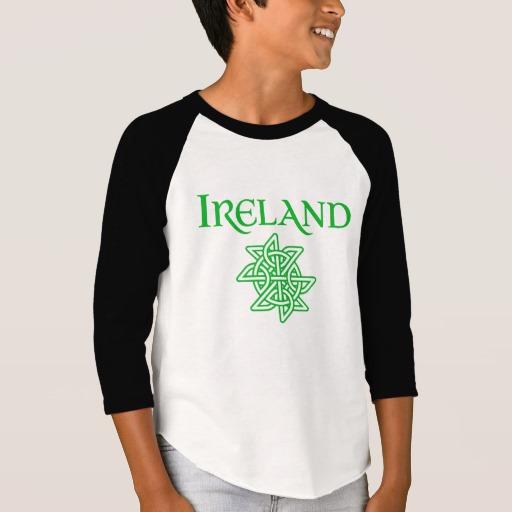 Ireland Celtic Knot Boys' American Apparel 3/4 Sleeve Raglan T-Shirt