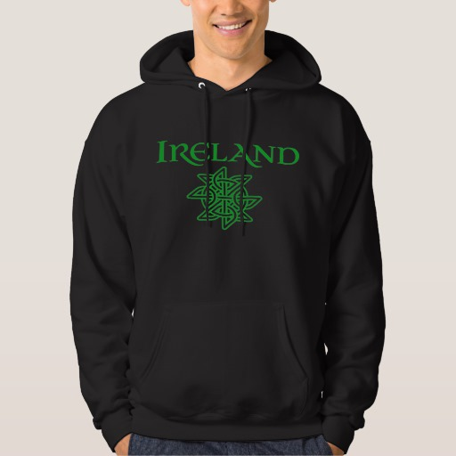 Ireland Celtic Knot Men's Basic Hooded Sweatshirt