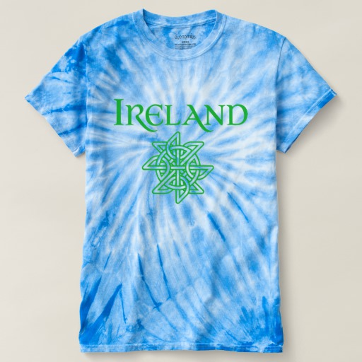 Ireland Celtic Knot Men's Cyclone Tie-Dye T-Shirt