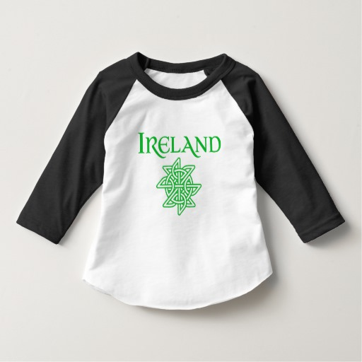 Ireland Celtic Knot Toddler American Apparel 3/4 Sleeve Raglan T-Shirt