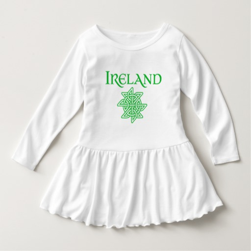 Ireland Celtic Knot Toddler Ruffle Dress