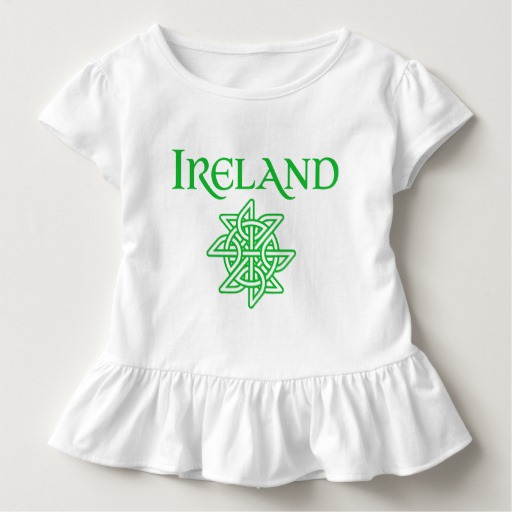 Ireland Celtic Knot Toddler Ruffle Tee
