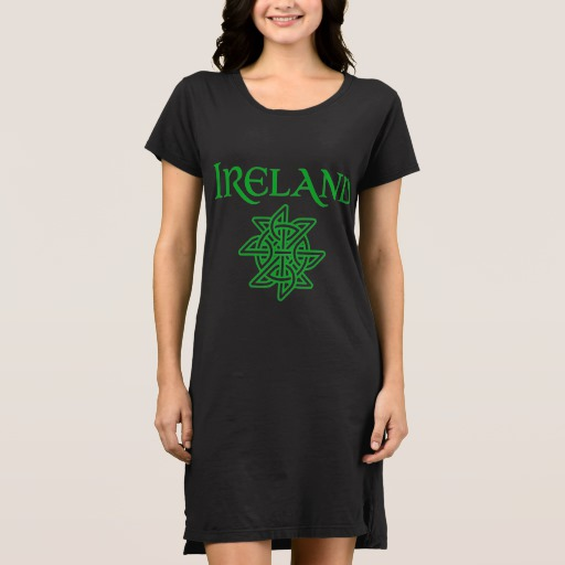 Ireland Celtic Knot Women's Alternative Apparel T-Shirt Dress