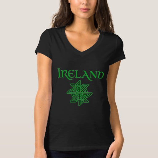 Ireland Celtic Knot Women's Bella+Canvas Jersey V-Neck T-Shirt