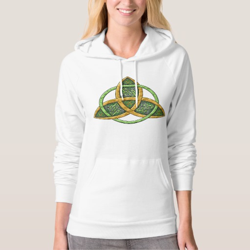 Celtic Trinity Knot American Apparel California Fleece Pullover Hoodie