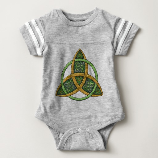 Celtic Trinity Knot Baby Football Bodysuit