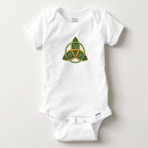 Celtic Trinity Knot Baby Gerber Cotton Onesie