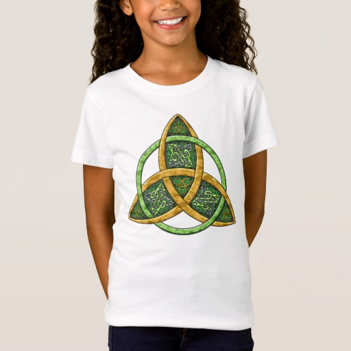 Celtic Trinity Knot Girls' Fine Jersey T-Shirt