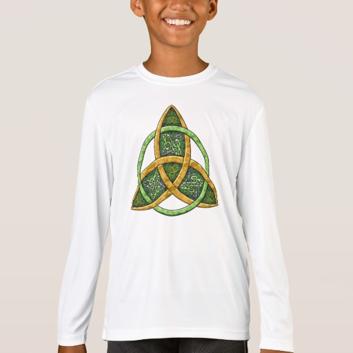 Celtic Trinity Knot Kids' Sport-Tek Competitor Long Sleeve T-Shirt