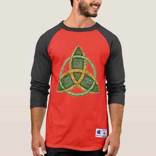 Celtic Trinity Knot Men's Champion 3/4 Sleeve Raglan T-Shirt