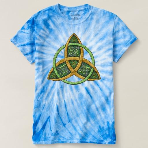 Celtic Trinity Knot Men's Cyclone Tie-Dye T-Shirt