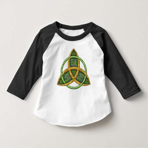 Celtic Trinity Knot Toddler American Apparel 3/4 Sleeve Raglan T-Shirt
