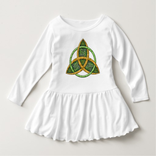 Celtic Trinity Knot Toddler Ruffle Dress