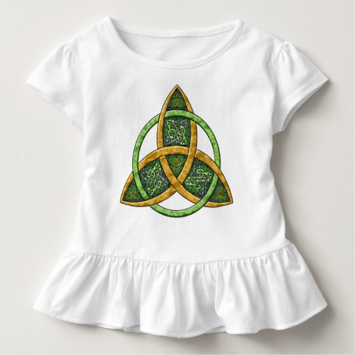 Celtic Trinity Knot Toddler Ruffle Tee