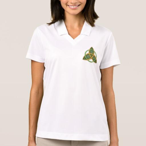 Celtic Trinity Knot Women's Nike Dri-FIT Pique Polo Shirt