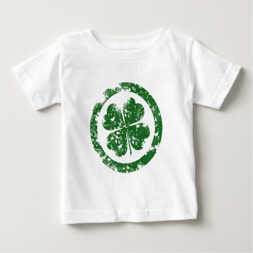 Circled 4 Leaf Clover Baby Fine Jersey T-Shirt