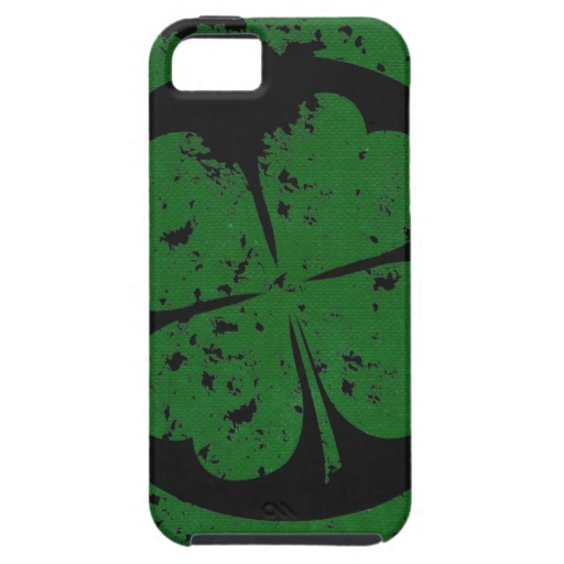 Circled 4 Leaf Clover Case-Mate Tough iPhone 5/5S Case