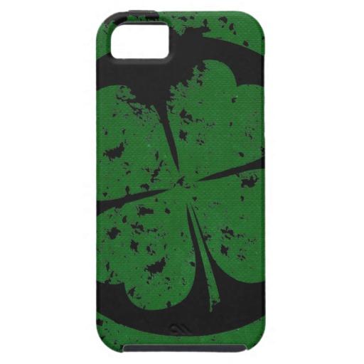 Circled 4 Leaf Clover Case-Mate Tough iPhone 5/5S Case