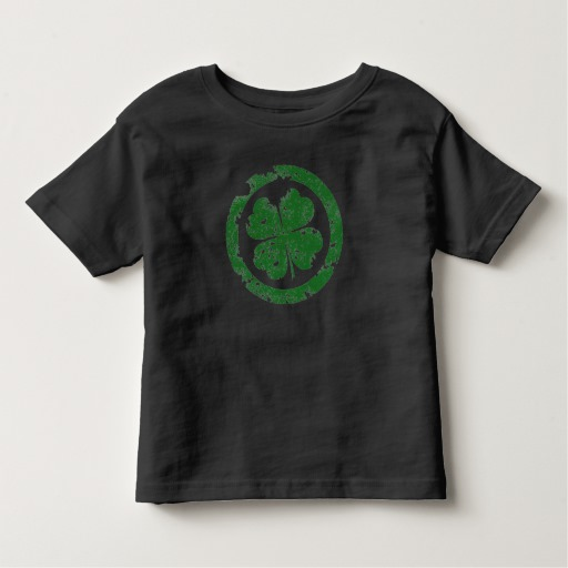 Circled 4 Leaf Clover Toddler Fine Jersey T-Shirt