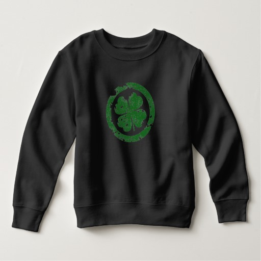 Circled 4 Leaf Clover Toddler Fleece Sweatshirt