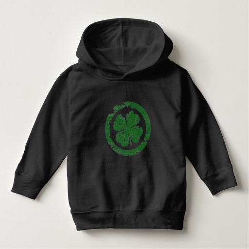 Circled 4 Leaf Clover Toddler Pullover Hoodie