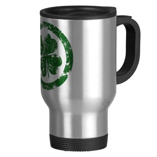 Circled 4 Leaf Clover Travel/Commuter Mug