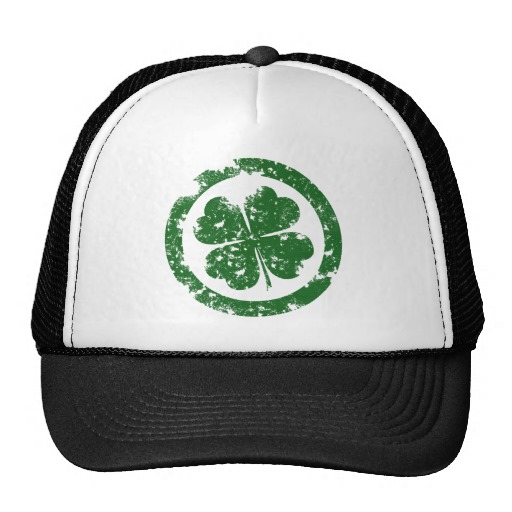 Circled 4 Leaf Clover Trucker Hat