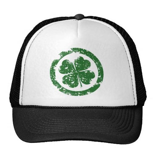 Circled 4 Leaf Clover Trucker Hat