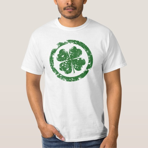 Circled 4 Leaf Clover Value T-Shirt