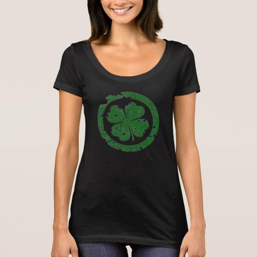 Circled 4 Leaf Clover Women's Next Level Scoop Neck T-Shirt