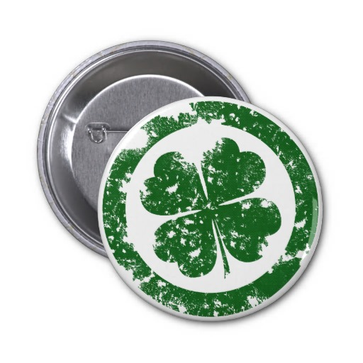 Lucky Clover 2 Inch Round Button