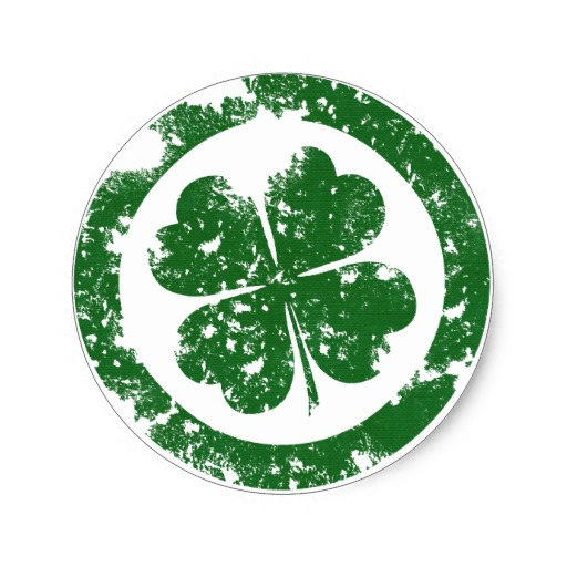 Lucky Clover Classic Round Sticker