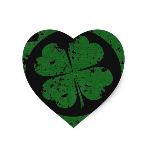 Lucky Clover Heart Sticker