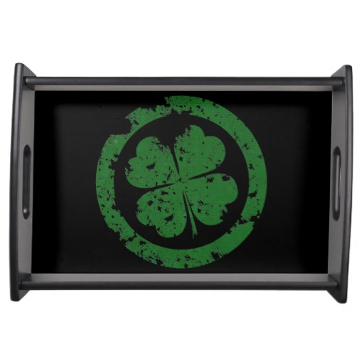 Lucky Clover Serving Platters